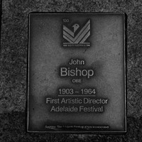 Image: John Bishop OBE Plaque