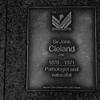 Image: Sir John Cleland Plaque