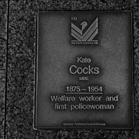 Image: Kate Cocks Plaque