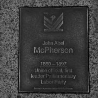 Image: John Abel McPherson Plaque