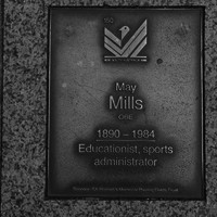 Image: May Mills Plaque