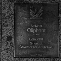 Image: Sir Mark Oliphant Plaque