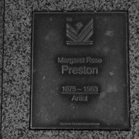 Image: Margaret Rose Preston Plaque