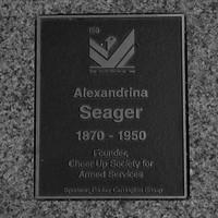 Image: Alexandrina Seager Plaque